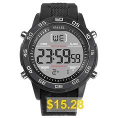 SMAEL #1067 # #Multi-function #Waterproof #Electronic #Watch #- #BLACK