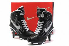 Nike Air Force 1 Heels Black/ White