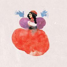 Opowieści Dengbeżów. Baśnie i bajki kurdyjskie Ryms kwartalnik o książkach dla dzieci i młodzieży #birds #paint #illustration #dress #spot