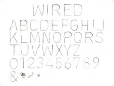 Wired Typeface, Kate Bauer