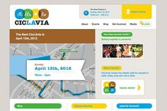 Ludlow Kingsley | Work | CicLaVia #interactive #webdesign