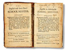 English Dutch Dictionary, 1730 #history #ny #school #print #book
