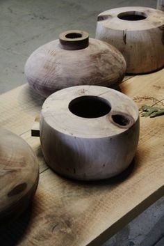 wooden pots #wood #vessels #pot