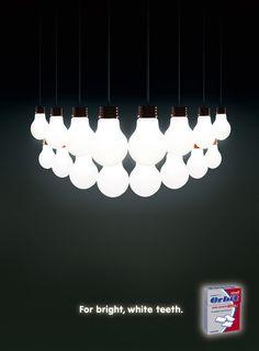 Wrigleys Orbit: Bright teeth   Ads of the World #illustration