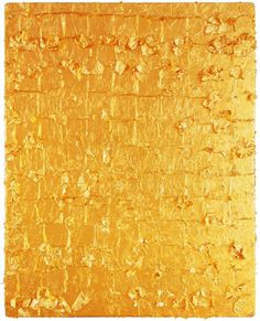 Yves Klein 'Untitled Gold Monochrome' 1962 #golden #gold #surface #shiny
