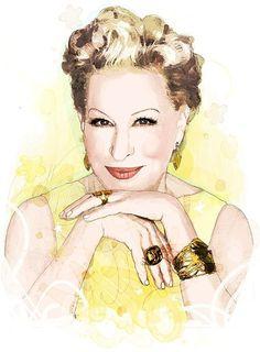 Hemisphere magazine / Mydeadpony / Brussels #glowing #bette #talent #shining #midler #star #actress