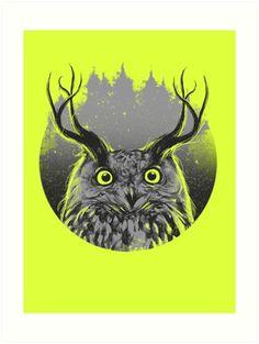 Majesty #owl #design #illustration #nature #art