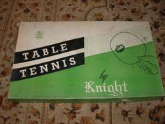 Vtg Table Tennis Ping Pong Game by Knight in Original Box 4 Paddles 1950's 60s | eBay #pong