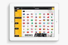 International association of athletics federations | Phileman Agence de communication et de design Nantes / Lorient #sport #flag #ipad #design #graphic #interface #application #tablet #ui #app #ios