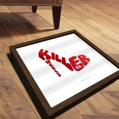 Killer Heels Personalised Print #graphic design #typography #wall print