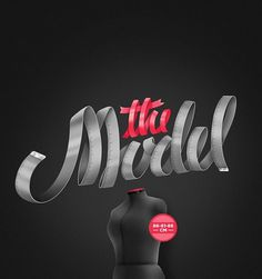 All sizes | The_Model | Flickr - Photo Sharing! #vector #typo #typography
