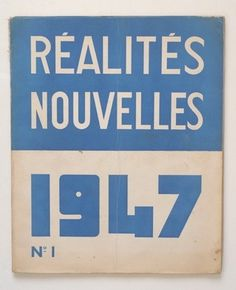 Réalités Nouvelles n° 1 | Flickr - Photo Sharing! #book #cover #vintage #type #typography