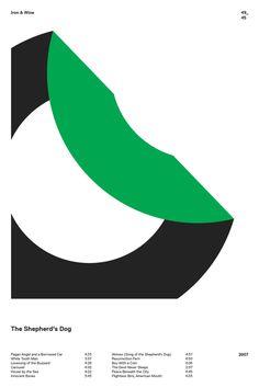 swissritual.ca #swissritual #graphic #design #minimal #music #grid #poster #swiss #illustration #IronAndWine