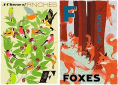 Design*Sponge #birds #illustration #foxes #poster