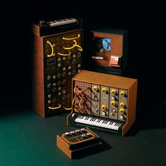 Moog Acid #miniatures #synth #craft #art #paper