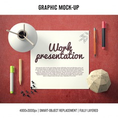 Paper in a desk mock up template Free Psd. See more inspiration related to Mockup, Template, Paper, Office, Web, Website, Mock up, Desk, Templates, Website template, Office desk, Mockups, Up, Web template, Realistic, Real, Web templates, Mock ups, Mock and Ups on Freepik.
