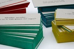 Enserio #letterpress #cards #business