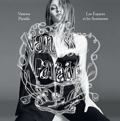 Vanessa Paradis, photographed by Karim Sadli and art by M/M (Paris) for her album Les Espaces & Les Sentiments, June 2013. (click the image #mm #paris #illustration #lettering