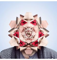 Kaleidoscope of Faces by Norg Nodis #inspiration #photography #manipulations