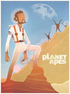 Planet of the Apes Cartoon - Posters - Creattica #man #future #ape #planet #of #the #apes #charlton heston