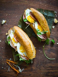 "Vietnamese Bánh Mì The ""Bang Me""' Fried Egg Recipe #yum #photography #eat #food"