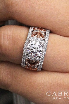 Modern engagement rings is a good choice if you're a non-traditional bride or just want a unique engagement ring.
