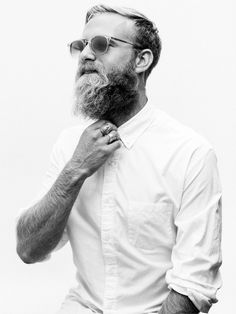 Photo by Nicholas Maggio #beard #photography #white #apparel