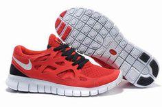 Mens Nike Free Run 2 University RedWhite-Black Shoes #shoes