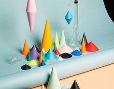 In-Vitro #geometry #chemical #cone #shapes #colours #origami #cones #science