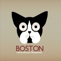 14-2.png (1000×1000) #logo #identity #dog #boston #boston terrier