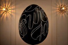 egg type? #egg #design #black #gold #typography