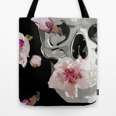 """Spring"" Tote Bag by Miguel Angélus Batista | Society6 #tote #vector #illustration #society6 #bag #skull"