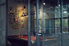 THE PLAYROOM on Behance #interior #mural #branding #cafe #bar #playroom #graphics