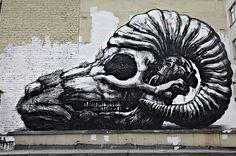 sombreboite:ROA #koa #ram skull