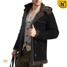 Men Sheepskin Jackets Black CW877138