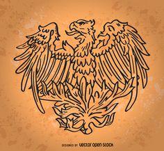 Hand drawn phoenix bird http://bit.ly/29BXC0j