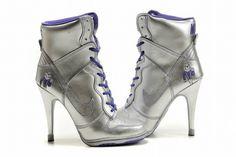 Nike Dunk SB High Heels Silver/Purple