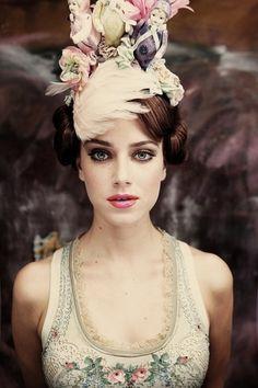 Michal Negrin '11 on Fashion Served #hat #vintage #girl #flowers