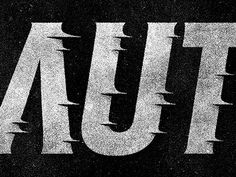 Typography / AUT by Simon Ã…lander #type