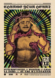 http://brokenfingaz.com/wp content/uploads/2012/10/CHANGEYOURHEARTFINALweb.jpg #fingaz #design #graphic #illustration #poster #broken