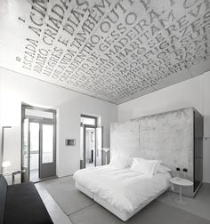 yellowtrace_Casa-do-Conto-Hotel_Porto-Portugal_01.jpg (JPEG Image, 700 × 749 pixels) #interior #design #graphic #environmental #type #typography
