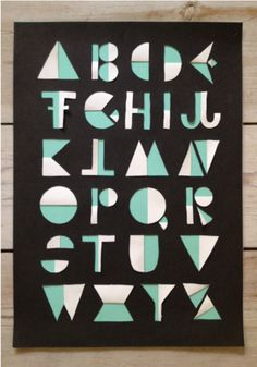 Michelle Carlslund FLIP alphabet. #typography #alphabet #letters #cut #danish #handlettering #cutouts #nordic #display typography