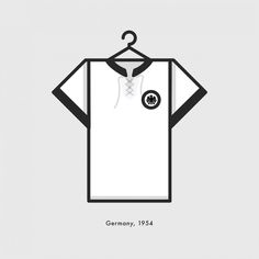 Germany World Cup Winning Kit 1954 - Minimal Illustration by Lucas Jubb