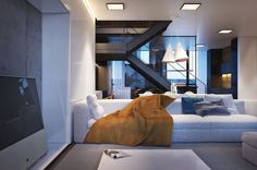 Cozy Apartment Exhibiting Diverse Textures in Kiev: House S #interior #modern #cozy #design #decor #apartment