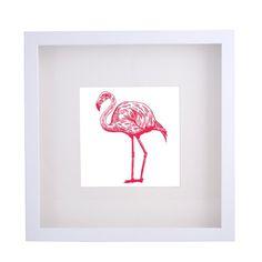 Framed Print 'Flamingo' 40cm x 40cm