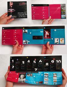! cadia.design | portfolio #programme #colorful #festival #brochure