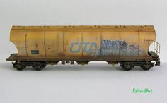 1:87 Graffiti CITA Hopper HBAK #train #model #diorama #photography #railway #miniature