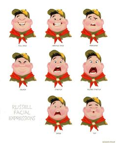 Living Lines Library: Up (2009) Character Design #design #illustration #russell #up #character #pixar