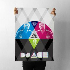 projectgraphics - typo/graphic posters #kosovo #event #ace #prishtina #dj #projectgraphics #poster
