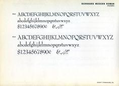 Daily Type Specimen | In 1932 Lucian Bernhard designed Bernhard Booklet... #type #specimen #typography